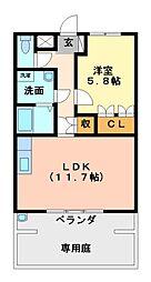 スプリームガーデン[1階]の間取り