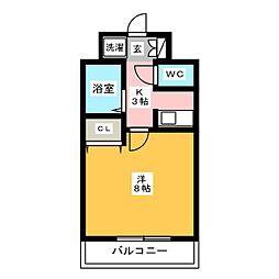 グラシャス97[8階]の間取り