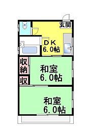 ERCコート六甲道[301号室]の間取り