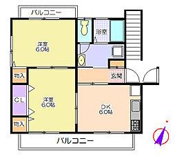 シティハイツウエダ[2階]の間取り