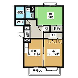 エスプワール花尻 B棟[1階]の間取り