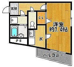 有馬サテライトマンション[2階]の間取り