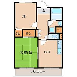 兵庫県尼崎市昭和通2丁目の賃貸マンションの間取り