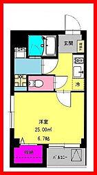 東京都北区十条仲原3丁目の賃貸マンションの間取り