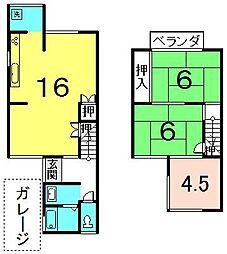 [一戸建] 京都府城陽市平川長筬 の賃貸【/】の間取り