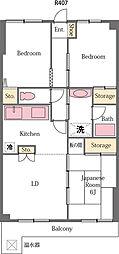 ライオンズマンション東松山第3[407号室]の間取り