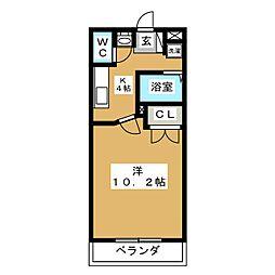 プチシャトー楽田[1階]の間取り