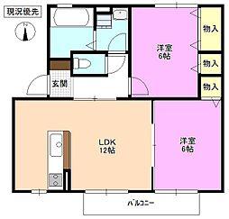 長野県松本市出川2丁目の賃貸アパートの間取り