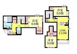 シャーメゾン城の下通2丁目 新築[B103号室]の間取り