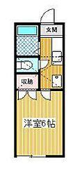 ピュアハイツ257[1階]の間取り