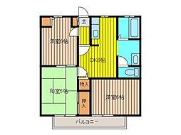 メゾン吉田II[201号室]の間取り