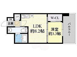 セレニテ江坂ルフレ 5階1LDKの間取り