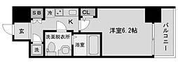 アドバンス西梅田ラシュレ[8階]の間取り