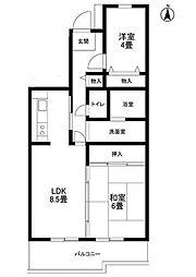 サンソレイユ松戸[5階]の間取り