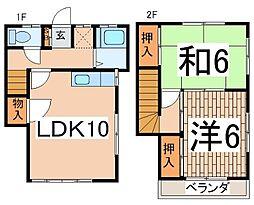 [テラスハウス] 神奈川県横浜市戸塚区平戸2丁目 の賃貸【/】の間取り