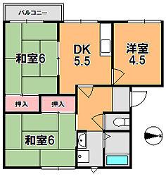 ラポールA・B[2階]の間取り