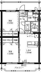フェニックスマンションA[105号室]の間取り