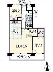 アンビエンテはば 402号室[4階]の間取り