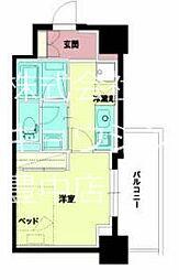 Osaka Metro千日前線 西長堀駅 徒歩5分の賃貸マンション 2階1Kの間取り