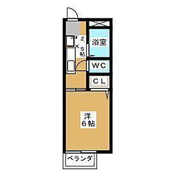 エイト名塚[1階]の間取り