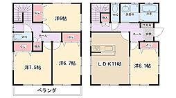 [一戸建] 東京都町田市忠生3丁目 の賃貸【/】の間取り