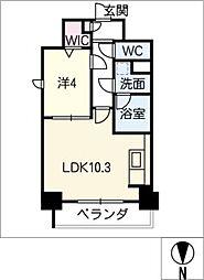 ルノンドーム A[6階]の間取り