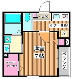 (仮称) 板橋区栄町メゾン 1階1Kの間取り