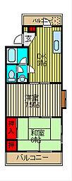 第三千葉マンション[1階]の間取り