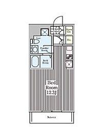 東急東横線 代官山駅 徒歩6分の賃貸マンション 3階ワンルームの間取り