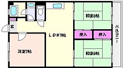 グレイスハイツ魚崎[3階]の間取り