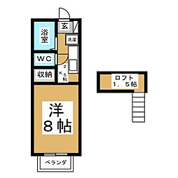 クレセール南吉成弐番館[1階]の間取り