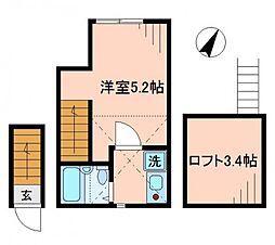 ブルーパンサー[2階]の間取り