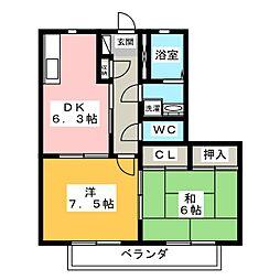 プレミール夢[1階]の間取り