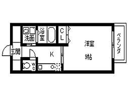 サザンクレスト堺[604号室]の間取り