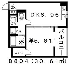 FStyle上田2号館(エフスタイル上田2号館)[203号室号室]の間取り
