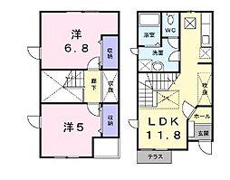 [タウンハウス] 静岡県浜松市東区笠井上町 の賃貸【静岡県 / 浜松市東区】の間取り