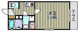 kiyo maison綾園[105号室]の間取り