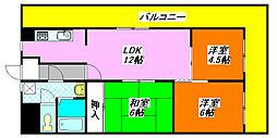 グランドファミリア・高井田 201号室[2階]の間取り