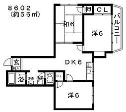 SAMURAIマンション(サムライマンション)[407号室号室]の間取り