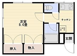コーポ畠山[105号室号室]の間取り
