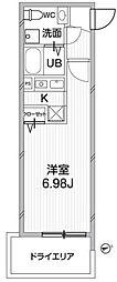 ZESTY神楽坂II[205号室号室]の間取り