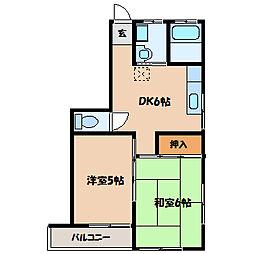 ペルナYAMANAKA[2階]の間取り