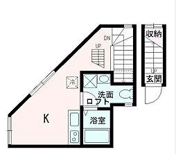 東京都品川区二葉2丁目の賃貸アパートの間取り