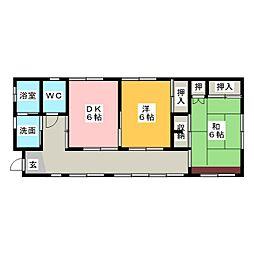 [一戸建] 静岡県藤枝市志太4丁目 の賃貸【/】の間取り