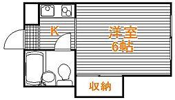 東京都文京区本駒込1丁目の賃貸アパートの間取り