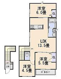 シャーメゾンプラム[2階]の間取り