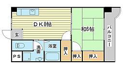 コーポラス神子岡[303号室]の間取り