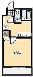ライトハウス木原[208号室]の間取り