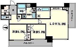 アデニウムタワー梅田イーストスクエア[10階]の間取り