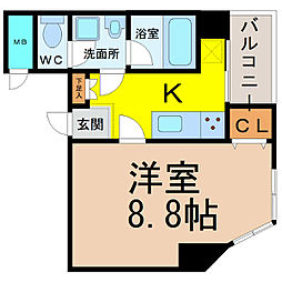 愛知県名古屋市西区栄生1の賃貸マンションの間取り
